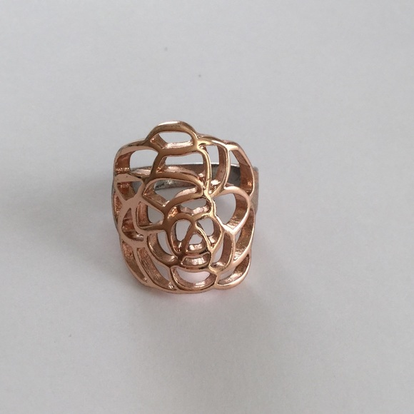 Charming Charlie Jewelry Rose Gold Colored Statement Ring Poshmark
